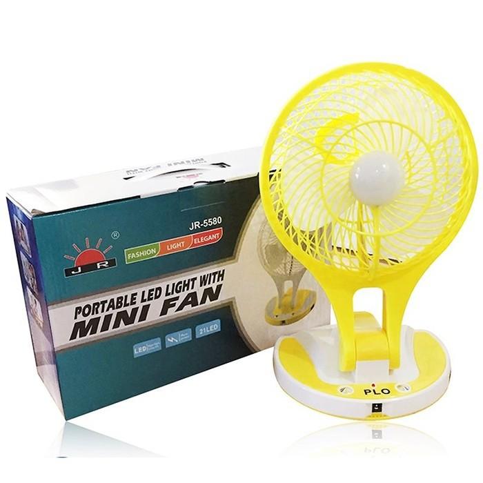 Quạt sạc điện kiêm đèn pin Mini Fan M-5580 6