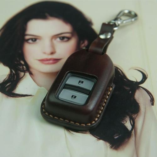 Bao chìa khóa H.O.N.D.A CRV - màu nâu - da bò nhập khẩu - đồ da thủ công DT167
