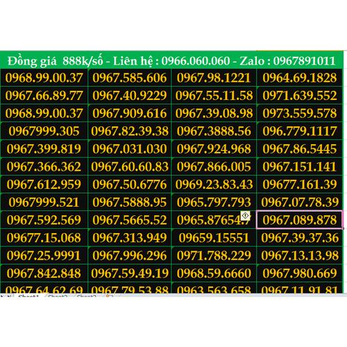 Dọn kho SIM SỐ ĐẸP sau lễ - giảm giá cực mạnh cho tất cả các dạng sim mạng Viettel ! - 4744014 , 17822107 , 15_17822107 , 888000 , Don-kho-SIM-SO-DEP-sau-le-giam-gia-cuc-manh-cho-tat-ca-cac-dang-sim-mang-Viettel--15_17822107 , sendo.vn , Dọn kho SIM SỐ ĐẸP sau lễ - giảm giá cực mạnh cho tất cả các dạng sim mạng Viettel !
