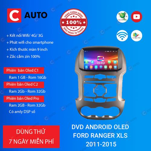 MÀN HÌNH DVD Ô TÔ ANDROID FORD RANGER XLS 2011-2015 CẮM SIM 4G, MUA 1 TẶNG 1