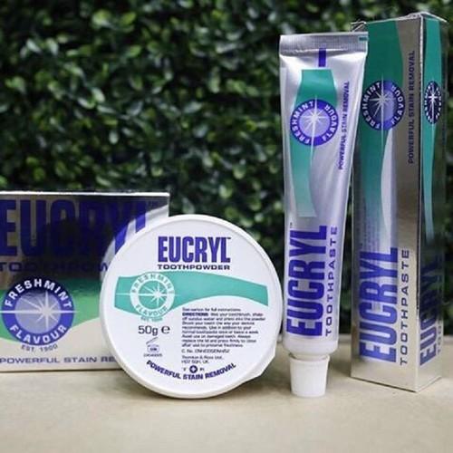 Bộ đôi Kem tẩy trắng răng và bột trắng răng EUCRYL