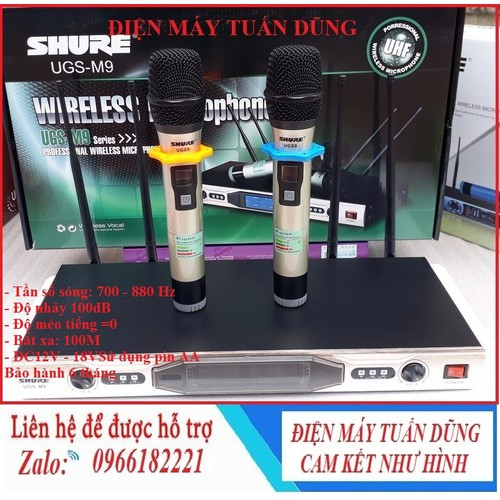 Micro Shu.re UGS M9 - Micro karaoke không dây