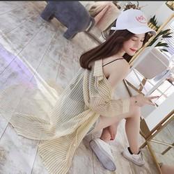 Áo khoác Kimono sọc