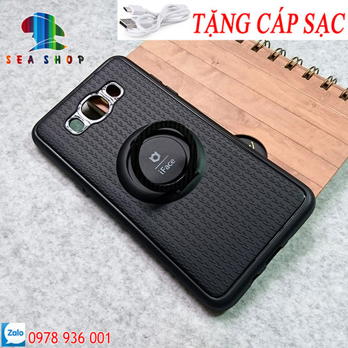 [SEASHOP] Ốp dẻo iRing Samsung J7 2016 - J710  hiệu iFace TẶNG CÁP SẠC