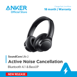 Tai nghe bluetooth SOUNDCORE Life 2 [by Anker] ANC chống ồn chủ động - A3023