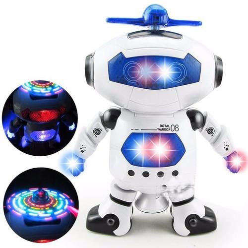 ROBOT NHẢY MUA XOAY 360 ĐỘ KÈM ĐÈN LED