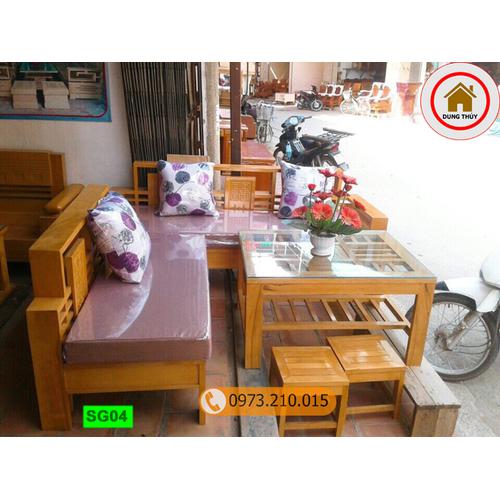 Bộ ghế sofa góc nhỏ gỗ sồi Nga SG04 - 9009696 , 18665962 , 15_18665962 , 6290000 , Bo-ghe-sofa-goc-nho-go-soi-Nga-SG04-15_18665962 , sendo.vn , Bộ ghế sofa góc nhỏ gỗ sồi Nga SG04