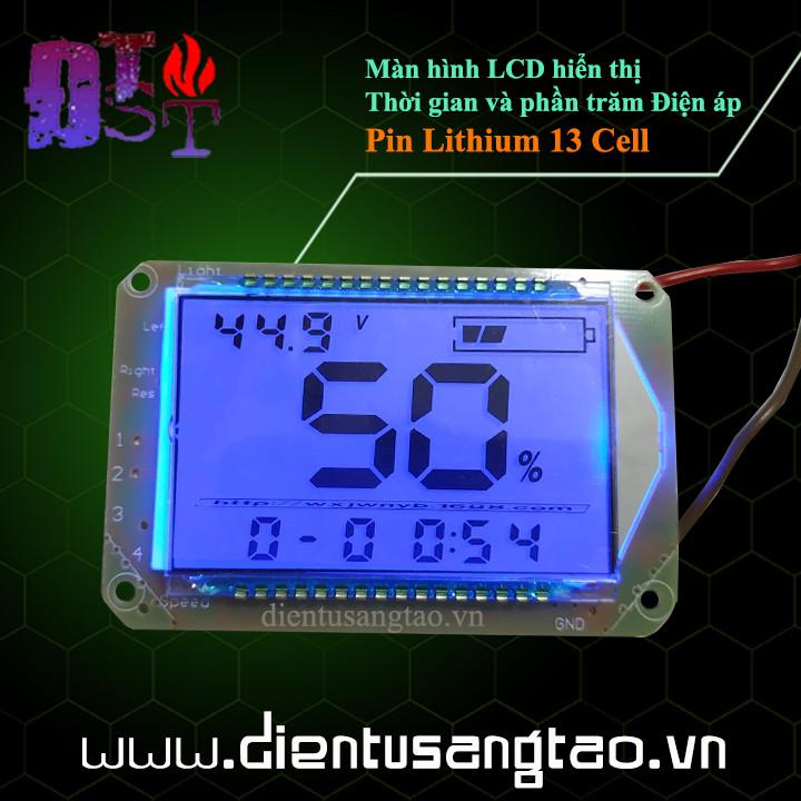 Màn hình LCD hiển thị Thời gian và phần trăm Điện áp Pin Lithium 13 Cell
