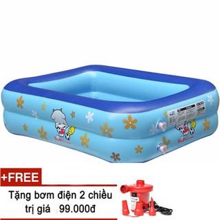 Bể phao bơi 115cm tặng bơm điện Bể bơi giá rẻ Hồ bơi cho bé - Bể phao bơi 115cm thumbnail