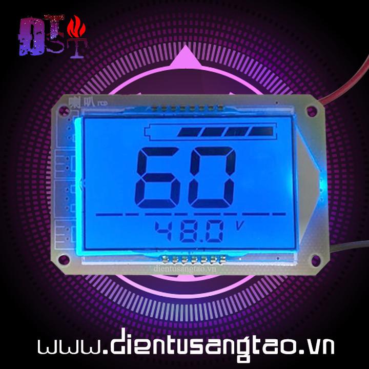 Mạch báo dung lượng bình acquy 60V hiển thị phần trăm và điện áp