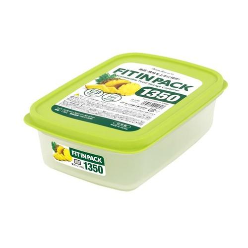Hộp nhựa đựng thực phẩm Fitin Pack nắp dẻo 1350ml - Hàng nội địa Nhật