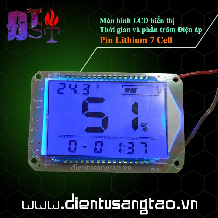 Màn hình LCD hiển thị Thời gian và phần trăm Điện áp Pin Lithium 7 Cell