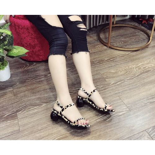 Giày sandal cao gót họa tiết beo - 9011767 , 18668707 , 15_18668707 , 265000 , Giay-sandal-cao-got-hoa-tiet-beo-15_18668707 , sendo.vn , Giày sandal cao gót họa tiết beo
