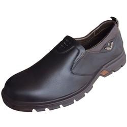 Giày nam không dây da bò cao cấp Trường Hải màu đen GN016