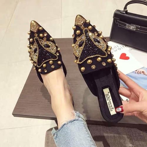 giày sục nữ đính hạt hồ ly  mũi nhọn - 9007690 , 18663458 , 15_18663458 , 318000 , giay-suc-nu-dinh-hat-ho-ly-mui-nhon-15_18663458 , sendo.vn , giày sục nữ đính hạt hồ ly  mũi nhọn