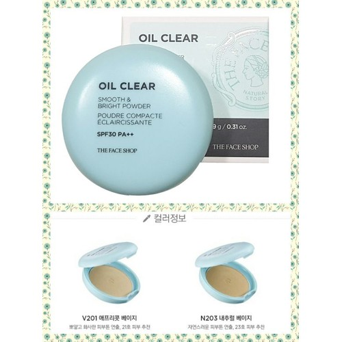 Phấn nén TheFaShop OIL CLEAR - Smooth and Bright Powder 9g