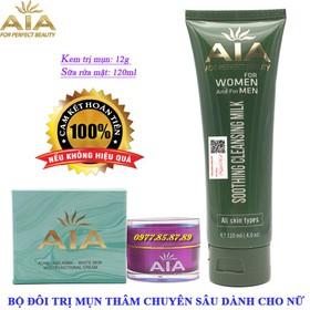 Bộ đôi mỹ phẩm trị Mụn chuyên sâu dành cho Nữ AIA COSMETICS - AIA-BDMN335