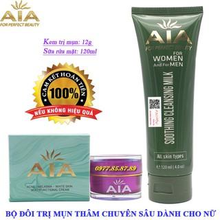 Bộ đôi mỹ phẩm ngừa Mụn chuyên sâu dành cho Nữ AIA COSMETICS - AIA-BDMN335 thumbnail