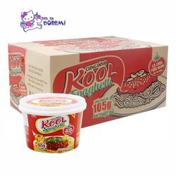 Thùng Hộp Mì Khoai Tây Cung Đình Kool Sốt Spaghetti Vị Thịt Bò Bằm [ 12 hộp ]