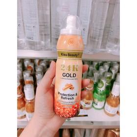 kem chống nắng - xịt chống nắng 24k gold - k0008