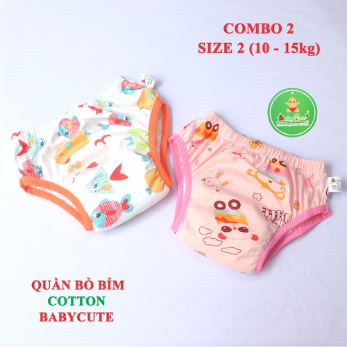 Combo 2 quần bỏ bỉm cotton BabyCute size 2 từ 10-15kg mẫu ngẫu nhiên cho bé Gái - 7774127 , 18669342 , 15_18669342 , 150000 , Combo-2-quan-bo-bim-cotton-BabyCute-size-2-tu-10-15kg-mau-ngau-nhien-cho-be-Gai-15_18669342 , sendo.vn , Combo 2 quần bỏ bỉm cotton BabyCute size 2 từ 10-15kg mẫu ngẫu nhiên cho bé Gái
