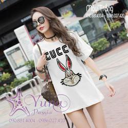 [Mua 2 Áo Tặng 1 Khẩu Trang Su Dày Kháng Khuẩn] Áo Cotton Thái Giấu Quần Thỏ Kim Sa Cao Cấp - Yuna Boutique