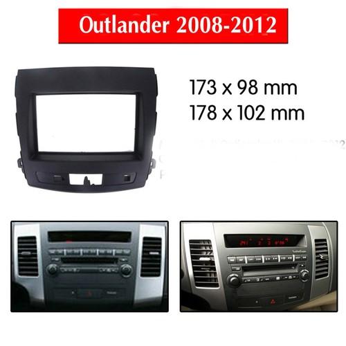 Mặt dưỡng lắp màn hình 7 Inc xe Mitsubishi Outlander 2008-2012