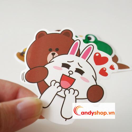 Combo 2 bộ Sticker dán Vali, nón bảo hiểm, tủ lạnh Gấu Brown & thỏ Cony Candyshop88.vn - 7646492 , 18668174 , 15_18668174 , 66000 , Combo-2-bo-Sticker-dan-Vali-non-bao-hiem-tu-lanh-Gau-Brown-tho-Cony-Candyshop88.vn-15_18668174 , sendo.vn , Combo 2 bộ Sticker dán Vali, nón bảo hiểm, tủ lạnh Gấu Brown & thỏ Cony Candyshop88.vn