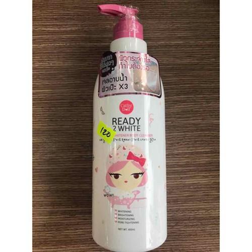 Sữa Tắm trắng da - Cathy Doll Ready 2 White One Day Whitener Thái Lan 450ml – Làm sạch dịu nhẹ và dưỡng ẩm cho da