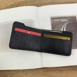 Ví nam - đơn giản - chất liệu da bò - màu đen - sản phẩm handmade MC293