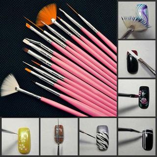 Set 15 bút vẽ móng - cọ vẽ móng tay chuyên nghiệp - 15 cọ vẽ móng tay thumbnail