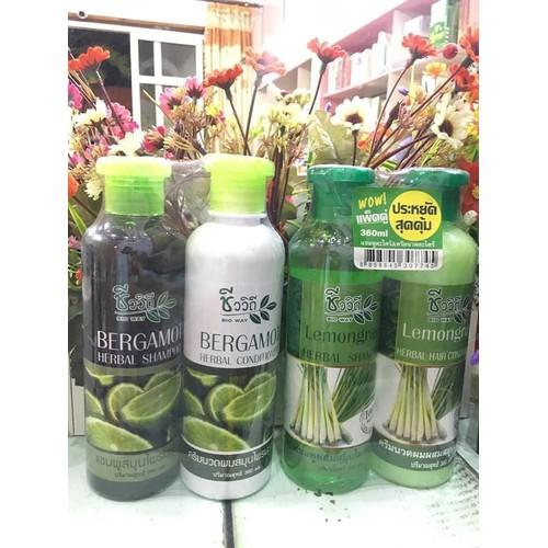 Cặp dầu gội thảo dược Thái Lan tinh chất chanh thiên nhiên kích thích mọc tóc trị gàu hiệu quả