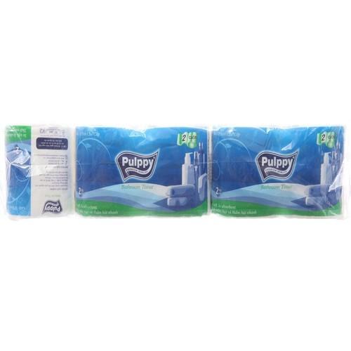 Giấy vệ sinh Pulppy - 10 Cuộn x 2 Lớp