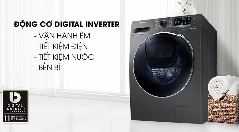 Công nghệ giặt hơi nước - Máy giặt sấy Samsung AddWash Inverter 8 kg WD85K5410OX/SV