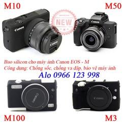 Bao silicon bảo vệ máy ảnh Canon M3, M10, M100, M50