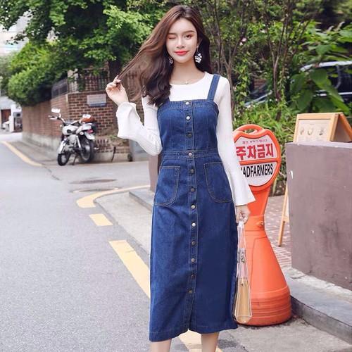 Chân váy yếm jean nữ - 5007103 , 18693788 , 15_18693788 , 200000 , Chan-vay-yem-jean-nu-15_18693788 , sendo.vn , Chân váy yếm jean nữ