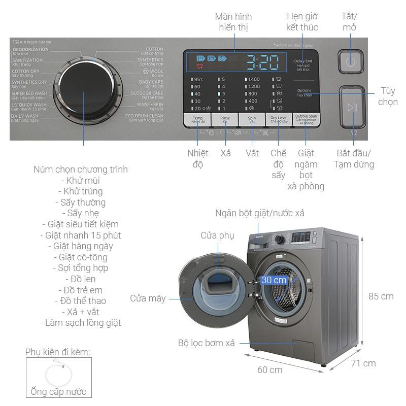 Công nghệ Inverter - Máy giặt sấy Samsung AddWash Inverter 8 kg WD85K5410OX/SV