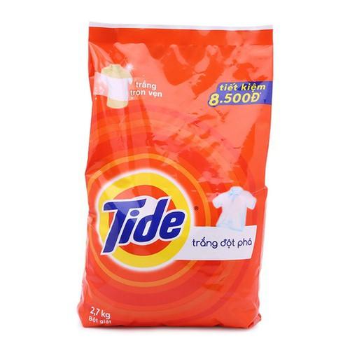 Bột giặt Tide trắng sạch đột phá 2,7kg