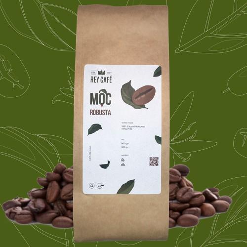 Cà phê Mộc Robusta - Gói 300gr - Coffee Nguyên chất rang mộc - Rey Cafe