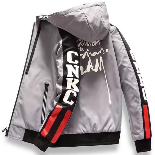 Áo khoác dù nam có nón, áo may 2 lớp túi có khóa kéo - Hàng VNXK