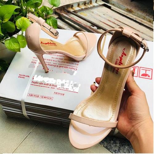 Giày VNXK - Sandal quai mảnh da bóng - 11p