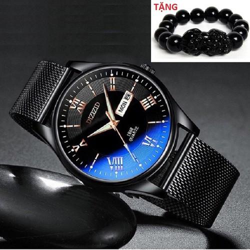 đồng hồ nam đồng hồ nam - Đồng hồ nam DIZIZID chính hãng mặt kính lồi đổi màu chạy 2 lịch TẶNG vòng tỳ hưu thạch anh đen