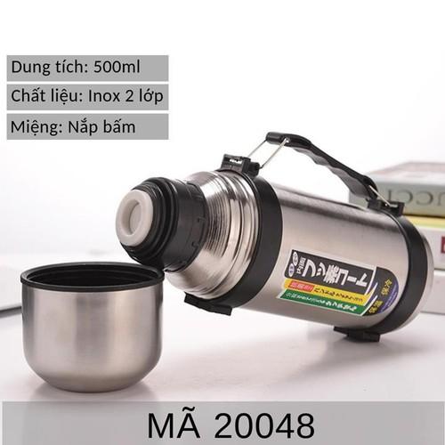 Bình nước giữ nhiệt Inox cao cấp 500ml mã KM 20048