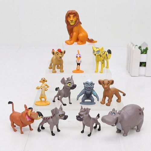 Bộ 12 Mô Hình Nhân Vật Hoạt Hình Vua Sư Tử - The Lion King