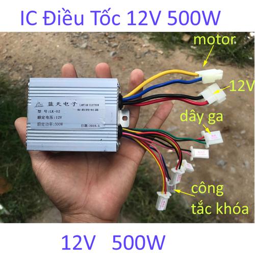 bộ điều khiển tốc độ động cơ xe điện 12V 500W - 4818340 , 18678784 , 15_18678784 , 210000 , bo-dieu-khien-toc-do-dong-co-xe-dien-12V-500W-15_18678784 , sendo.vn , bộ điều khiển tốc độ động cơ xe điện 12V 500W