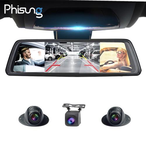 Camera hành trình cao cấp chính hãng Phisung V9 Plus tích hợp 4 camera, Android Wifi GPS - Hàng Nhập Khẩu Cao Cấp Nhất Hiện Nay Trên Thị Trường