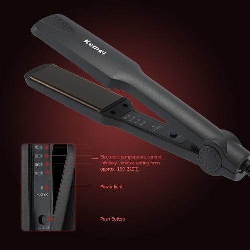 [TẶNG KÉO CẮT TỈA + HỖ TRỢ PVC] Máy là tóc Kemei KM 329 | máy ép tóc KM 329 - Có Video thực tế