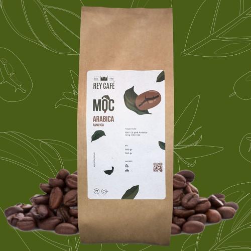 Cà phê Mộc Arabica Rang Vừa - Gói 300gr - Nguyên chất rang mộc - Thương hiệu Rey cafe