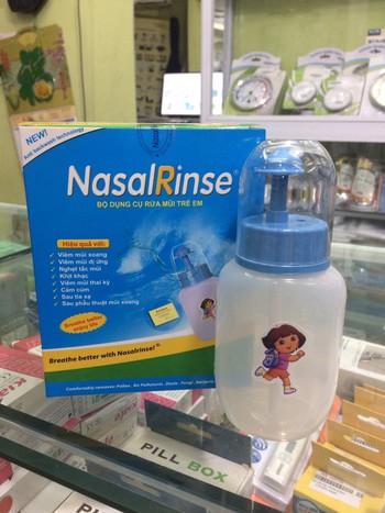 Bình rửa mũi trẻ em NasalRinse tặng kèm muối 3