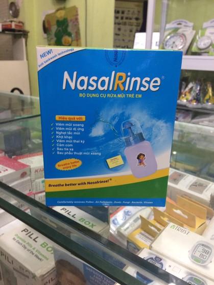 Bình rửa mũi trẻ em NasalRinse tặng kèm muối 2